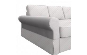 BACKABRO 2er-Sofa mit Recamiere Armlehnenschoner, ein Paar