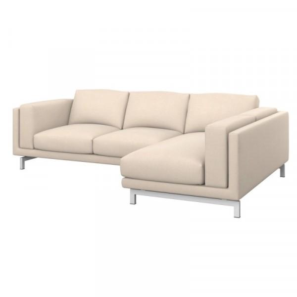 NOCKEBY Bezug 2er-Sofa mit Recamiere, rechts - Soferia   Bezüge für ...