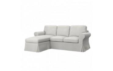 IKEA EKTORP 2er-Sofa mit Recamiere Bezug