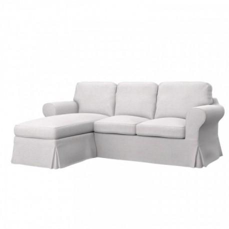 EKTORP 2er-Sofa mit Recamiere Bezug