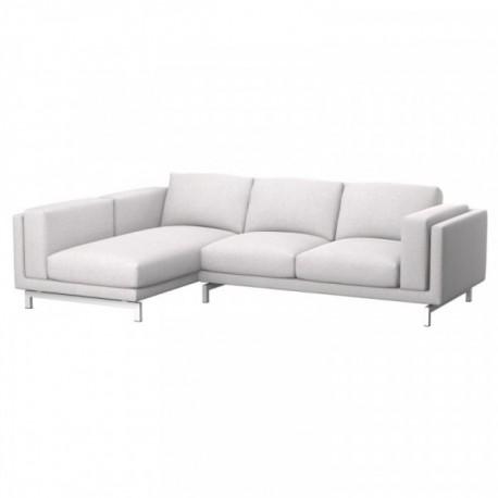 Nockeby Bezug 2er Sofa Mit Recamiere Links Soferia Bezuge Fur