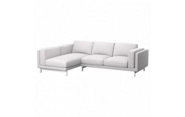 NOCKEBY Bezug 2er-Sofa mit Recamiere, links