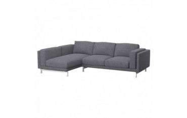 NOCKEBY Bezug 2er-Sofa mit Recamiere, rechts